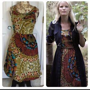 Anthro Edme&Esyllte Lappula floral silk dress